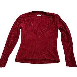 !! 3 for $20!! Grane red deep v-neck sweater